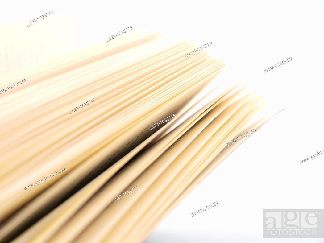 Open book, pages, Stock Photo, Picture And Rights Managed Image Pic