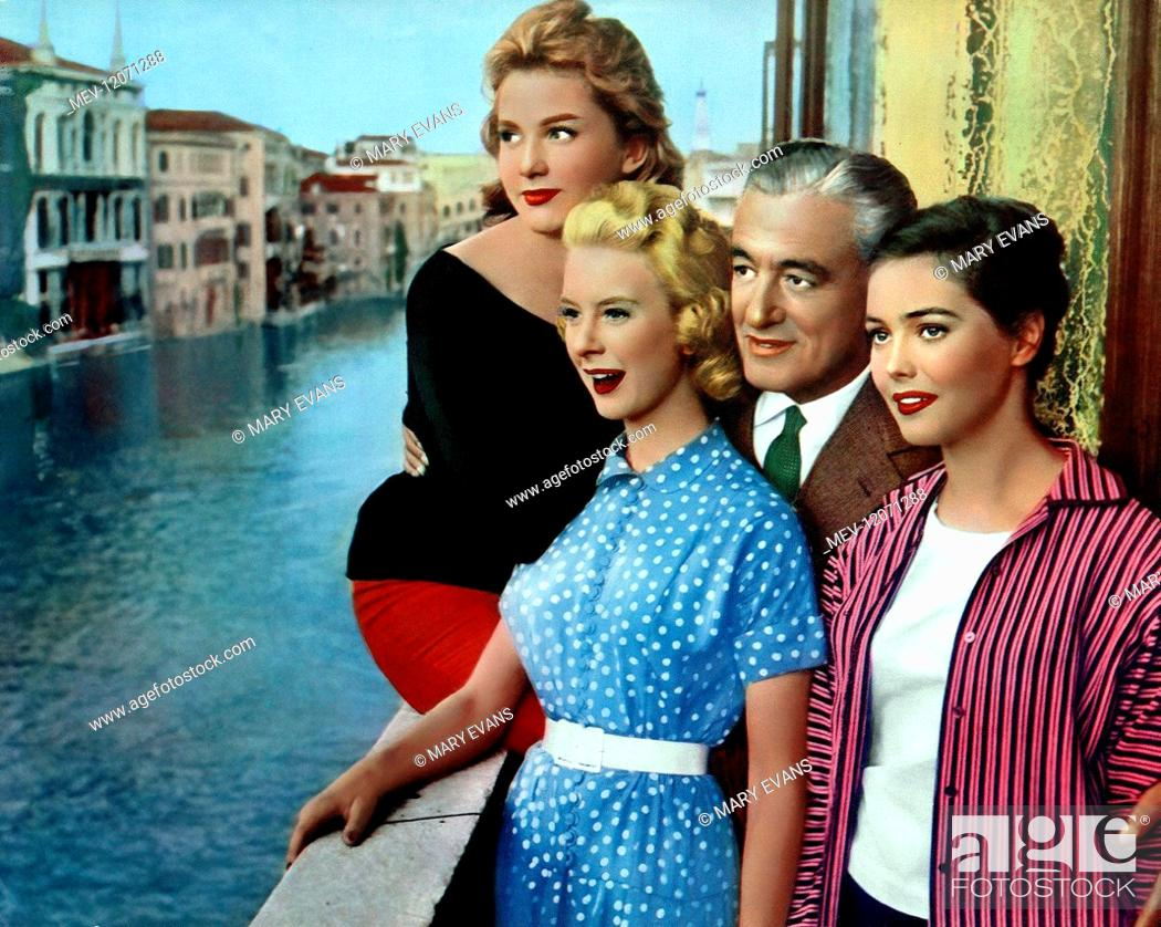 Schöner Film Isabelle Corey, June Laverick, Vittorio De Sica, Ingeborg Schoner Film: It Happened In Rome (1956)..., Stock Photo, Picture And Rights Managed Image. Pic. Mev-12071288 | Agefotostock