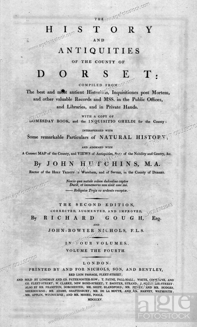 Title page of \u0027The History and Antiquities of the County of Dorset