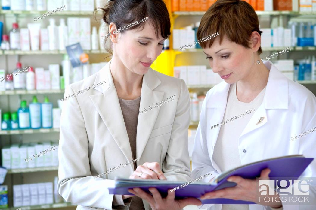 PHARMACEUTICAL SALES REPRESENTATIVE, Stock Photo, Picture And