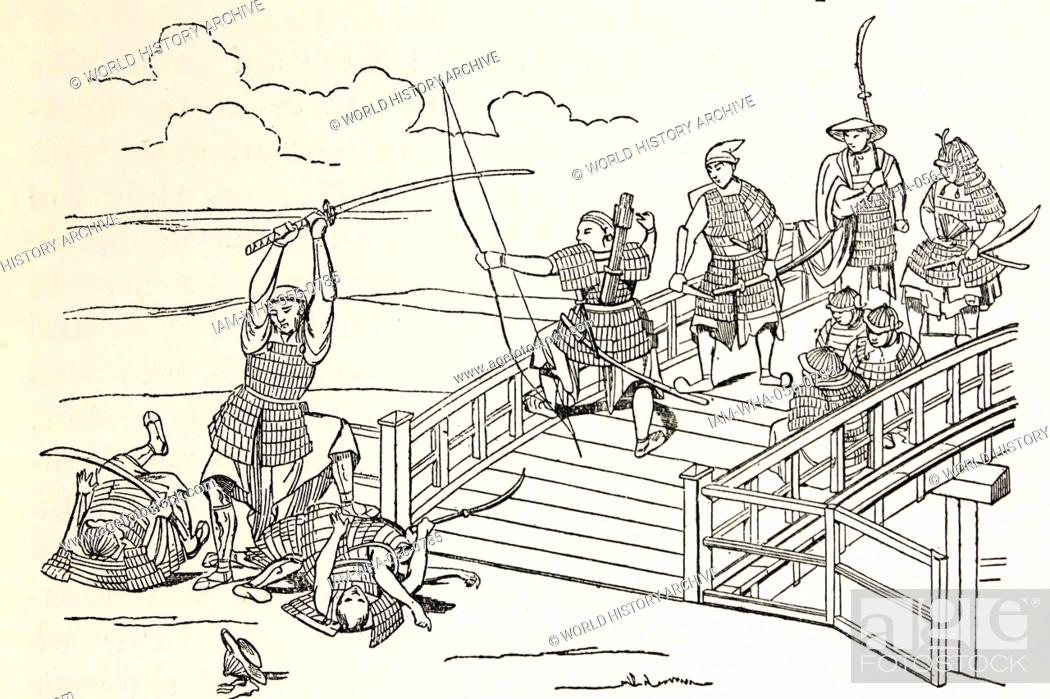 A Japanese fight against the Chinese at the time when Marco Polo