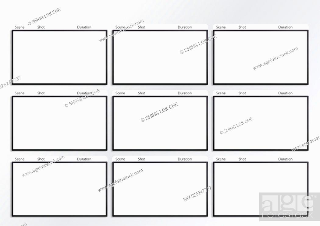 Professional of film storyboard template for easy to present the