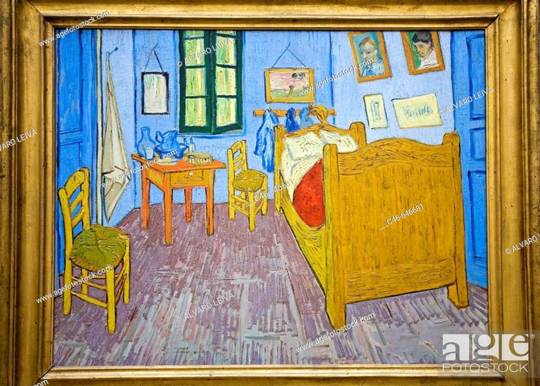 La chambre de Van gogh a Arles 1889, Vincent Van Gogh, Orsay Museum - Description De La Chambre De Van Gogh