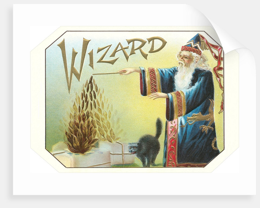 Wizard Tobacco Label posters  prints by Corbis