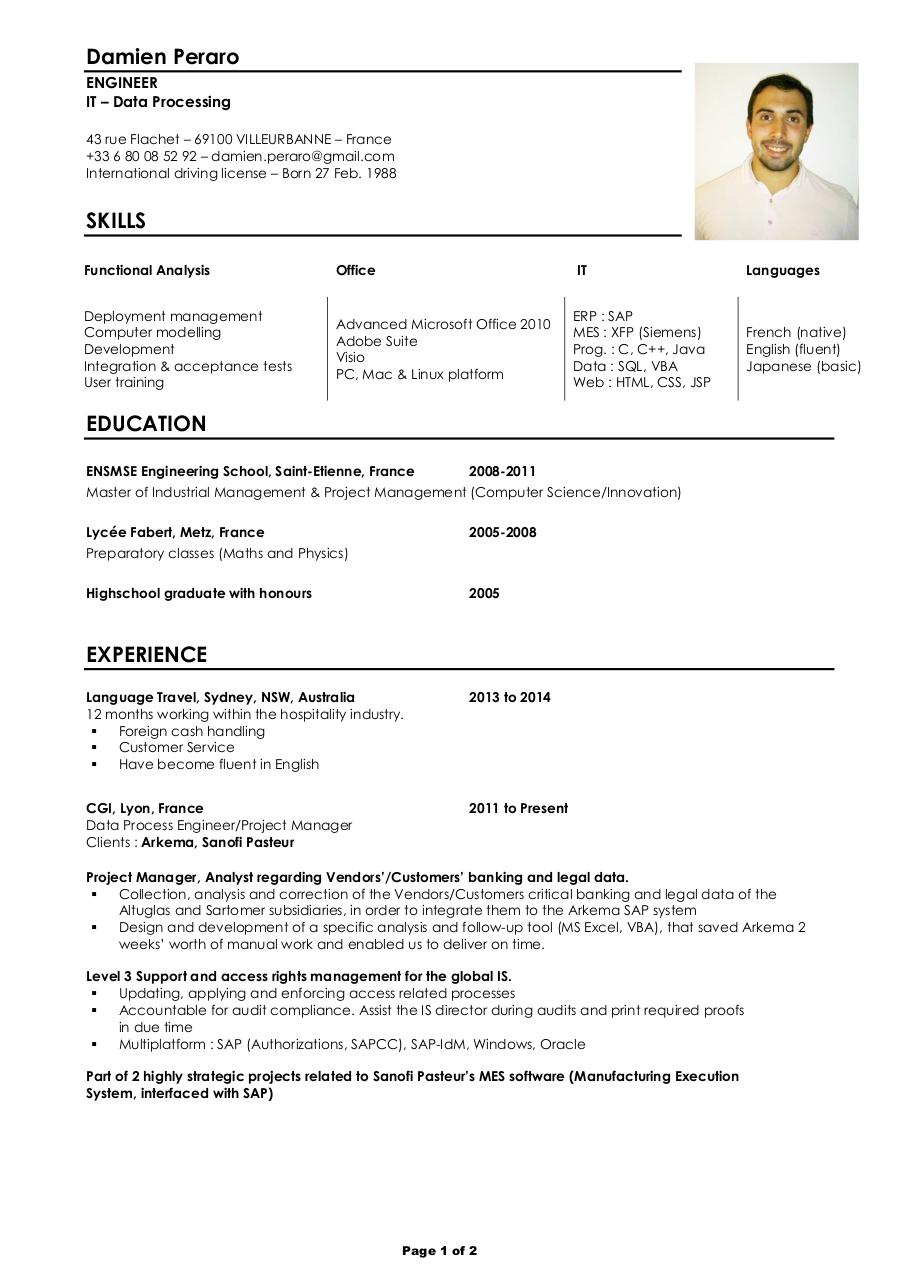 Teacher resume skills examples