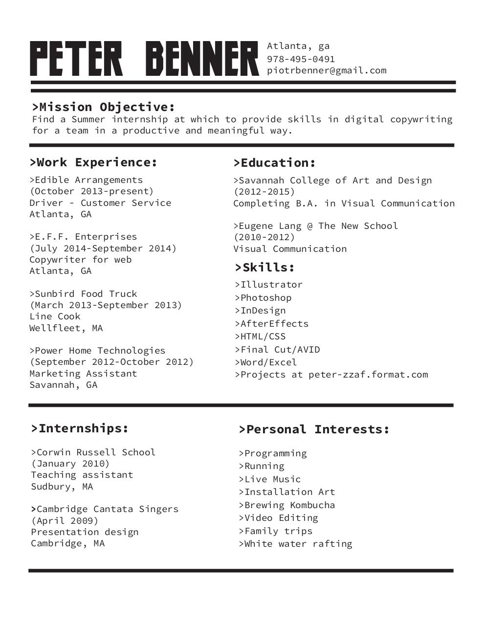 Colorful Sudbury Engineering Resume Composition - Administrative ...