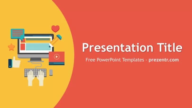 Free Content Marketing PowerPoint Template - Prezentr