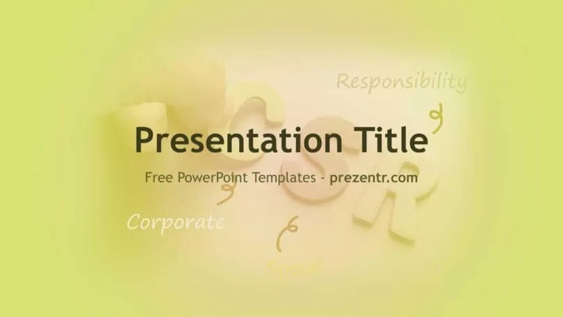 Free Corporate Social Responsibility (CSR) PowerPoint Template
