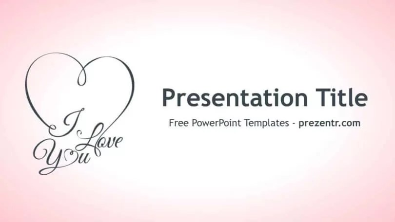Free I Love You PowerPoint Template - Prezentr PPT Templates - love templates