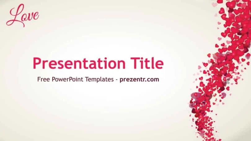 Free Love PowerPoint Template - Prezentr PPT Templates