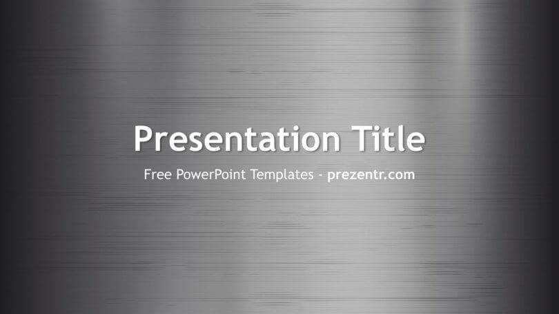 Free Metal Texture PowerPoint Template - Prezentr