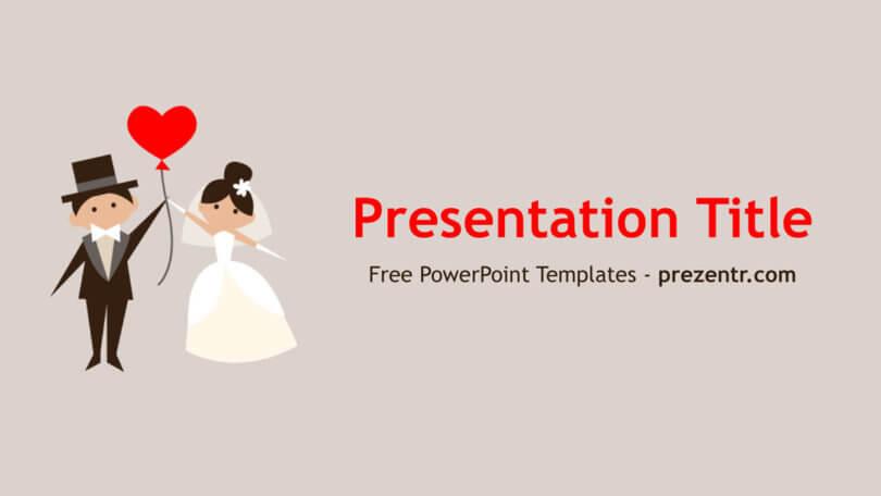 Free Wedding Couple PowerPoint Template - Prezentr