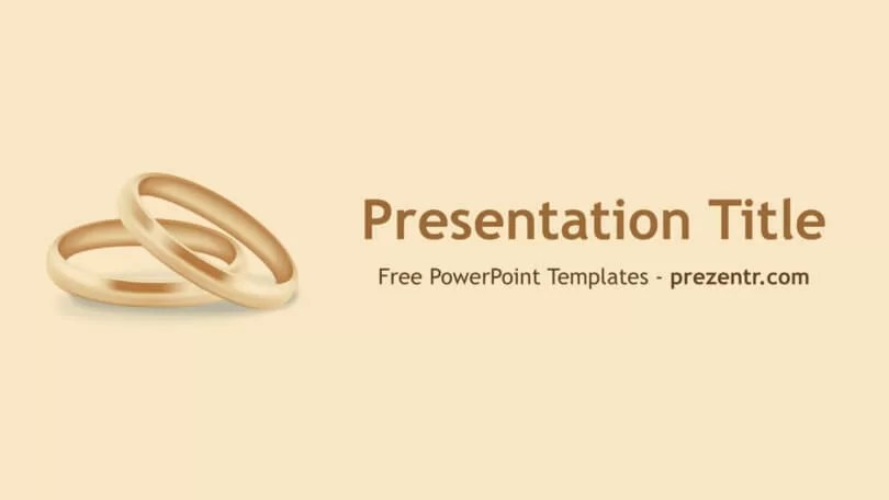 Free Wedding Rings PowerPoint Template - Prezentr