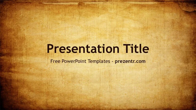 Free Old Paper PowerPoint Template - Prezentr PPT Templates