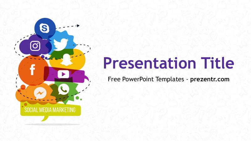 Free Social Media Marketing PowerPoint Template - Prezentr