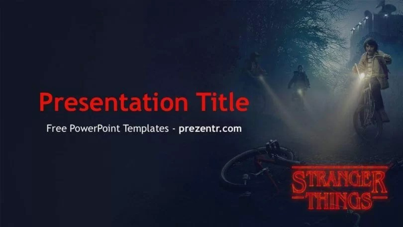 Free Stranger Things PowerPoint Template - PPT Templates