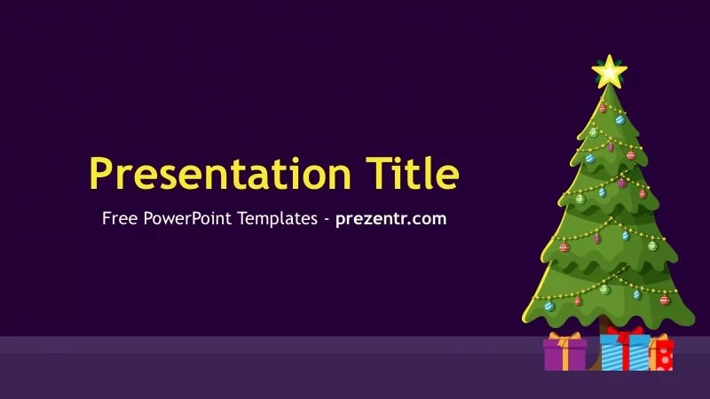 Free Christmas Tree PowerPoint Template - Prezentr PPT Templates