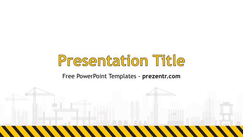 Free Construction PowerPoint Template - Prezentr PPT Templates