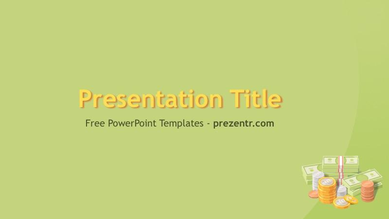 Free Cash PowerPoint Template - Prezentr PPT Templates - money background for powerpoint