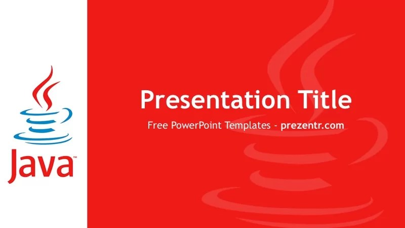 Free Java PowerPoint Template - Prezentr PPT Templates