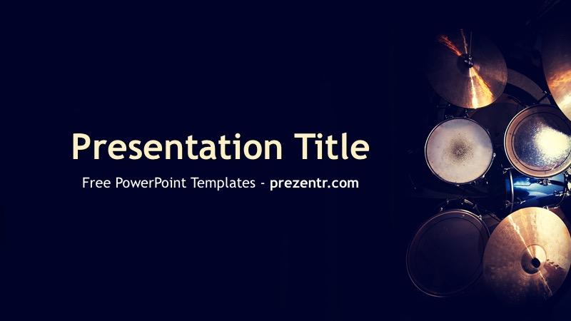 Free Drums PowerPoint Template - Prezentr PowerPoint Templates
