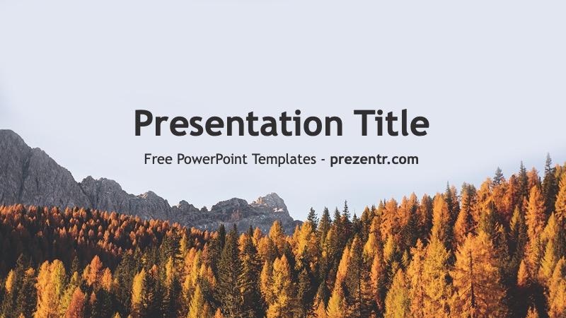 Free Fall PowerPoint Template - Prezentr PowerPoint Templates