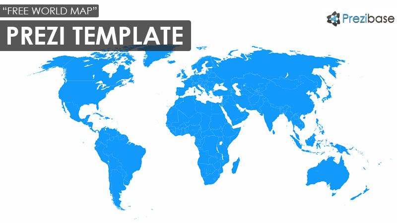 World Map Free Prezi Template Prezibase