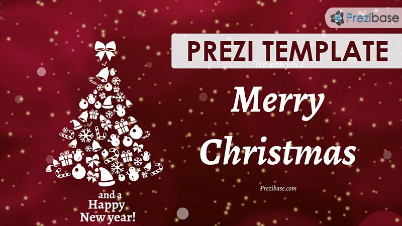 Christmas eCard Prezi Template Prezibase - template for christmas