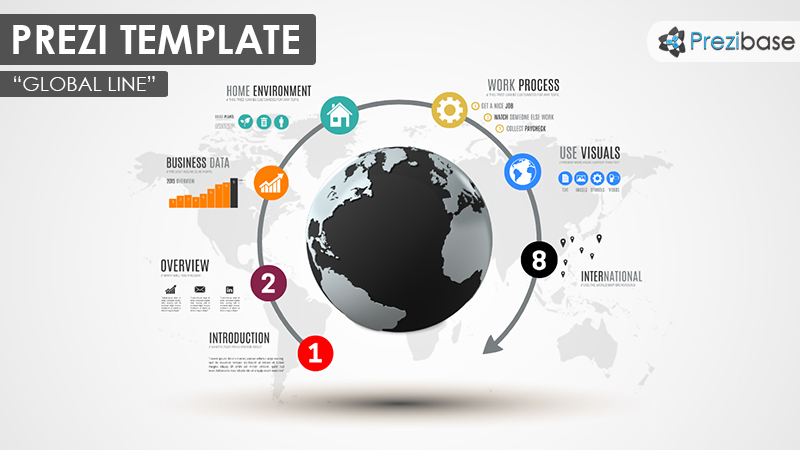 Global Line Prezi Template Prezibase