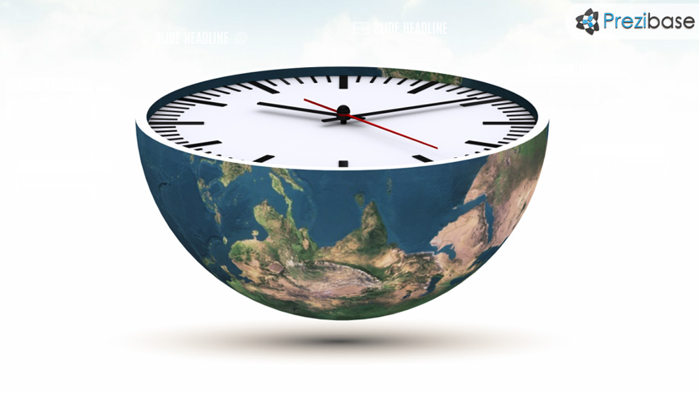 World Time Prezi Template Prezibase - clock templates