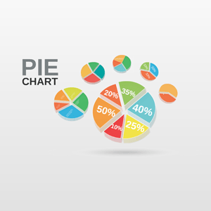 3d circular pie chart diagram prezi template