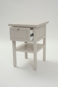 Long Island Small Bedside Table - Chalk or Shale | pr home