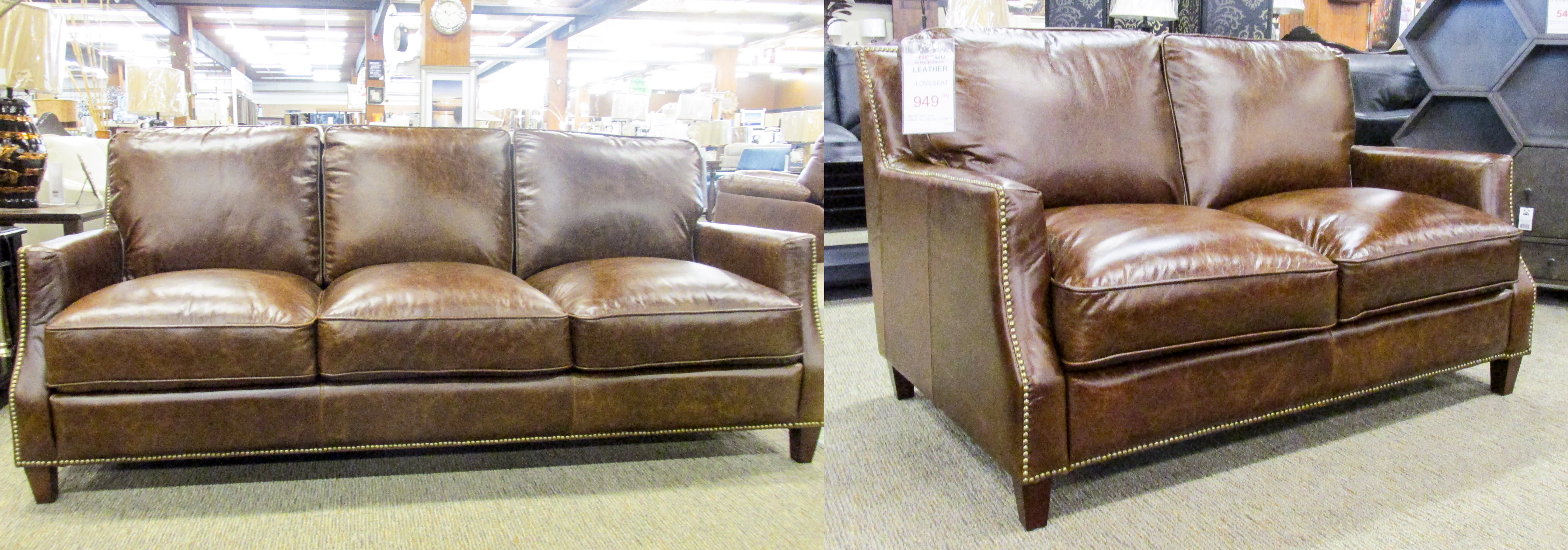Brown Sofa And Loveseat Sets Leather Italia 6103 Oakridge Brown Sofa Loveseat Set