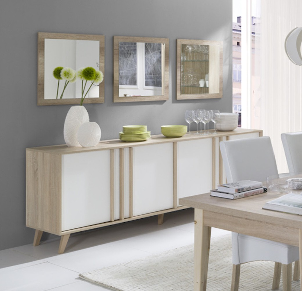 Meuble Design Buffet Enfilade Bahut Gm Malmo 3 Miroirs Meuble Design Type Sc