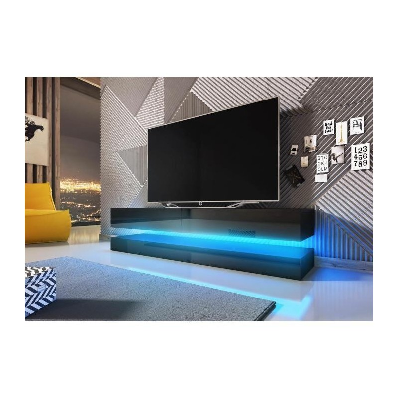 Meuble Tv Hifi Meuble Tv Design Suspendu Fly 140 Cm à 2