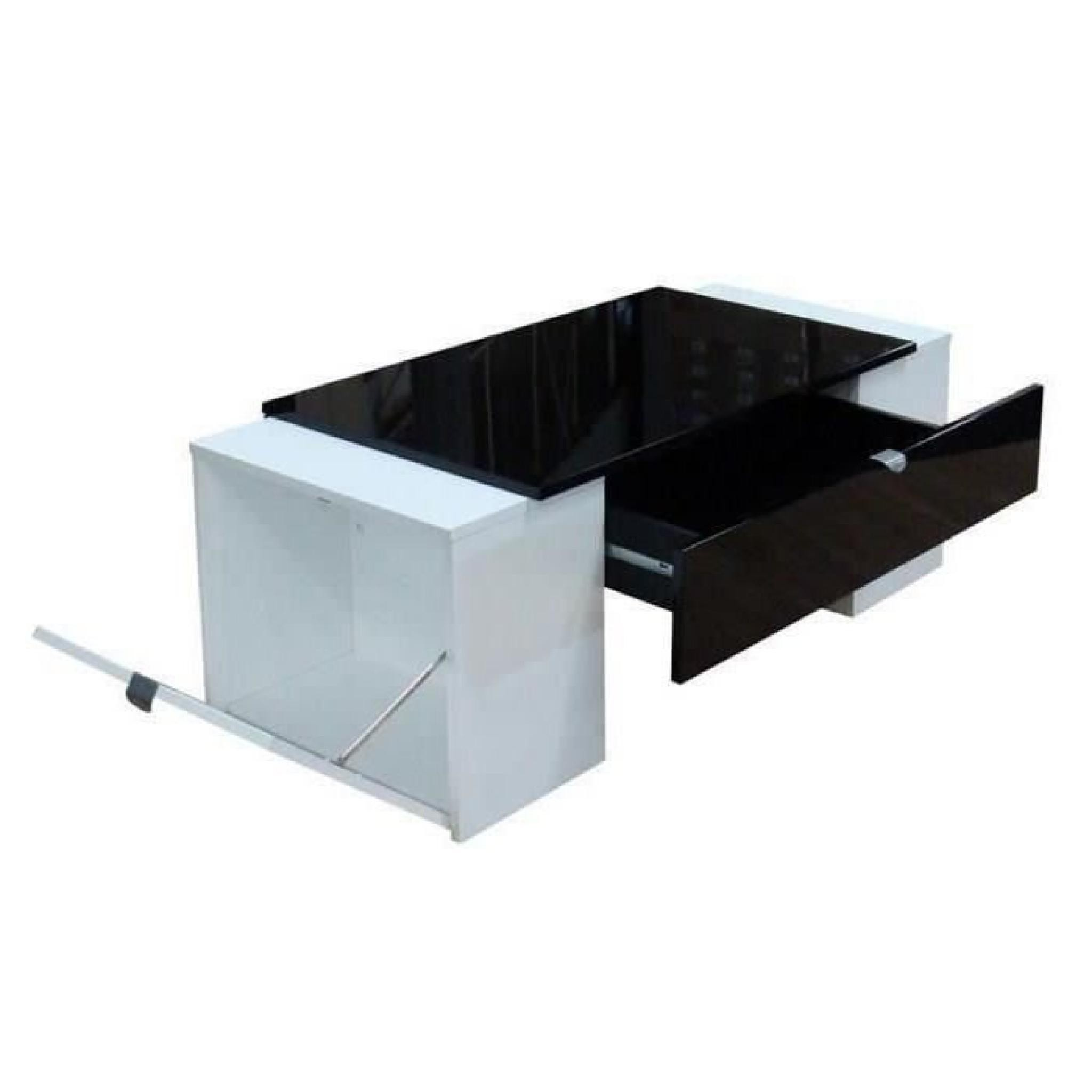 Table Haute Modulable Table Basse Luck Ultra Design Et Modulable Table Basse Noire Et Bl