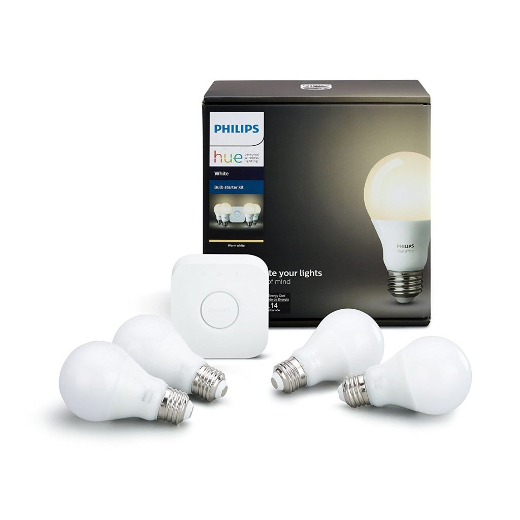 Philips Hue Included Philips Hue White Smart Bulb Starter Kit 4 A19 Bulbs And