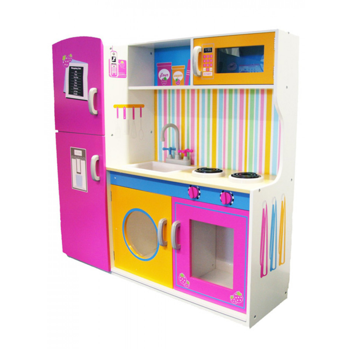 Cucina Peppa Pig Toys Big Wooden Kitchen With Fridge