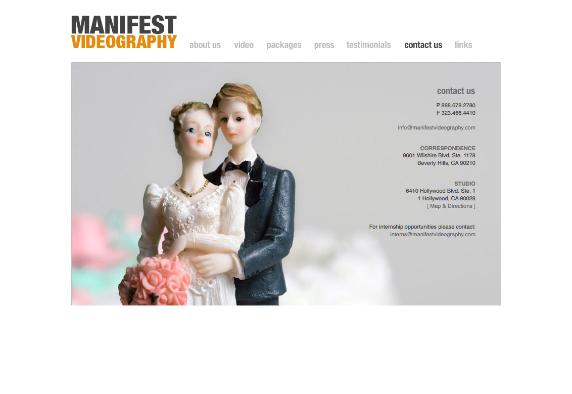 Manifest Videography - Contact Page