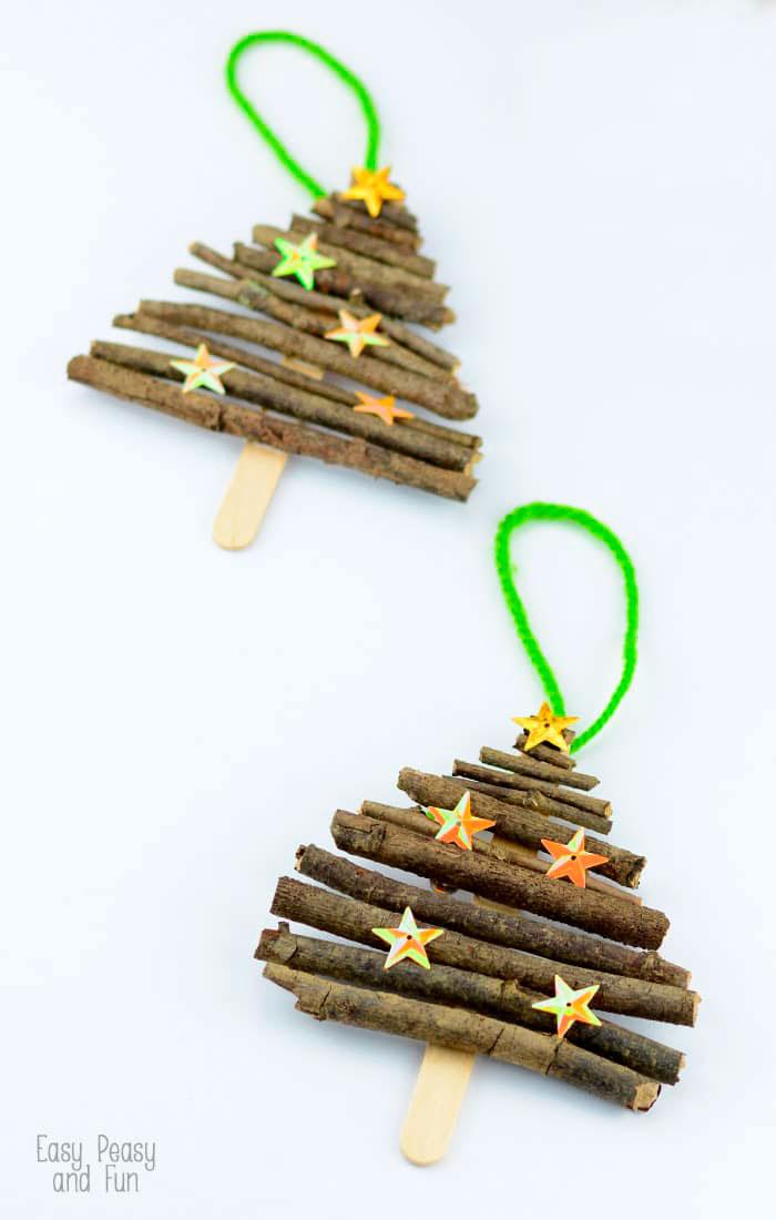 How To Make Mini Christmas Tree Decorations u2013 Mini Twig Christmas Tree - mini christmas tree decorations