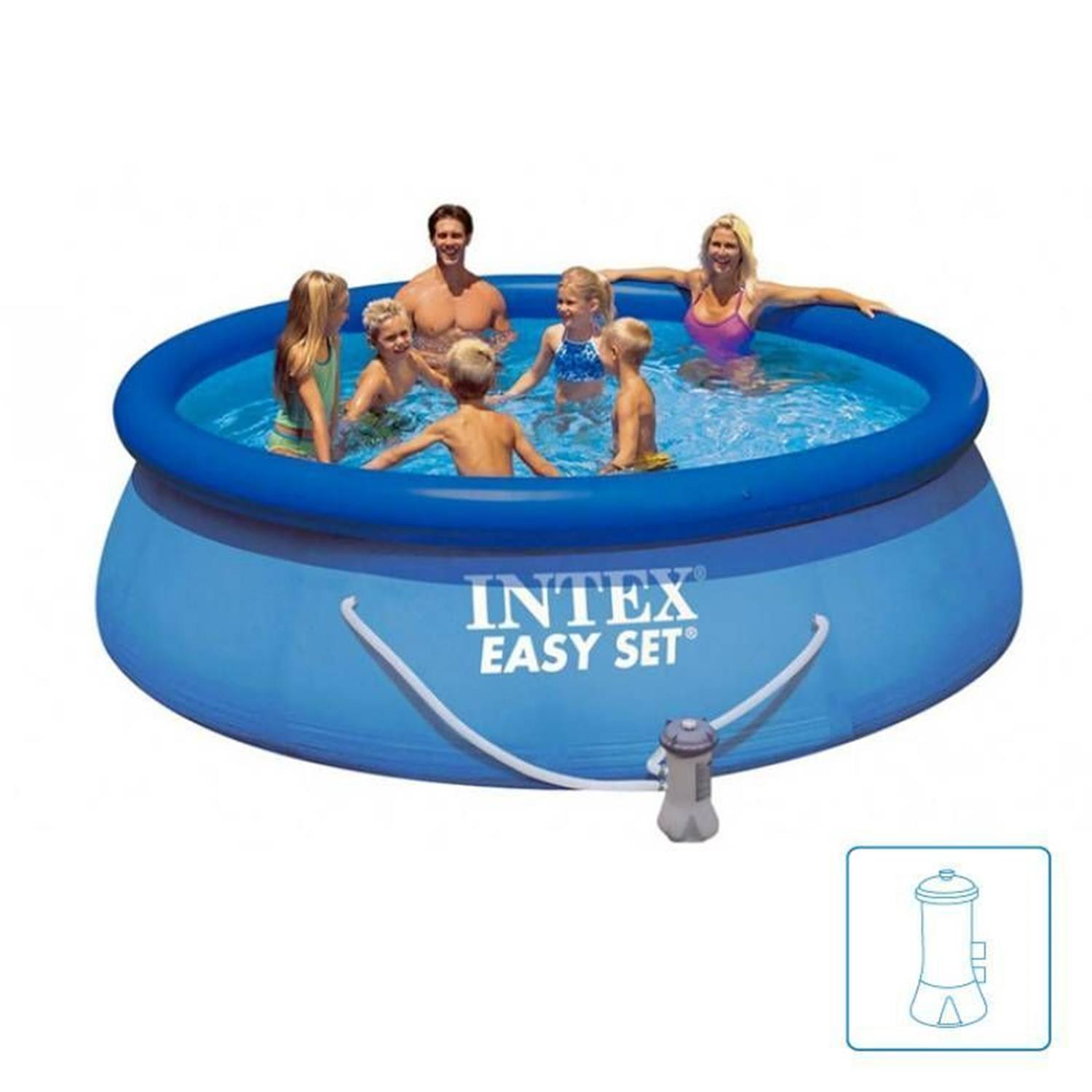 Jilong Pool Reinigungsset Intex Easy Set 28122 Swimming Pool Set 305x76cm Planschbecken Mit Pumpe