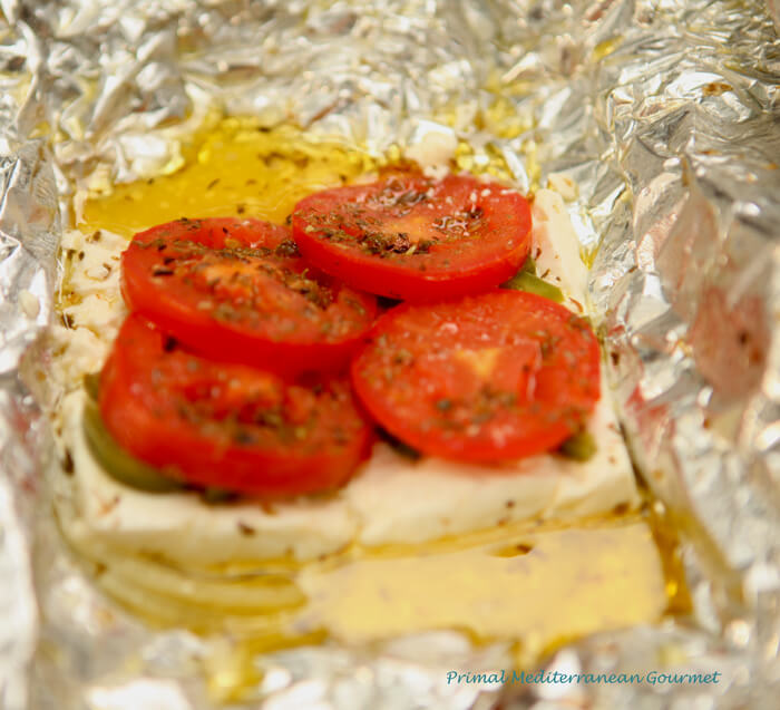 Baked Feta with Tomato and Pepper Bouyiourdi - Primal Mediterranean ...