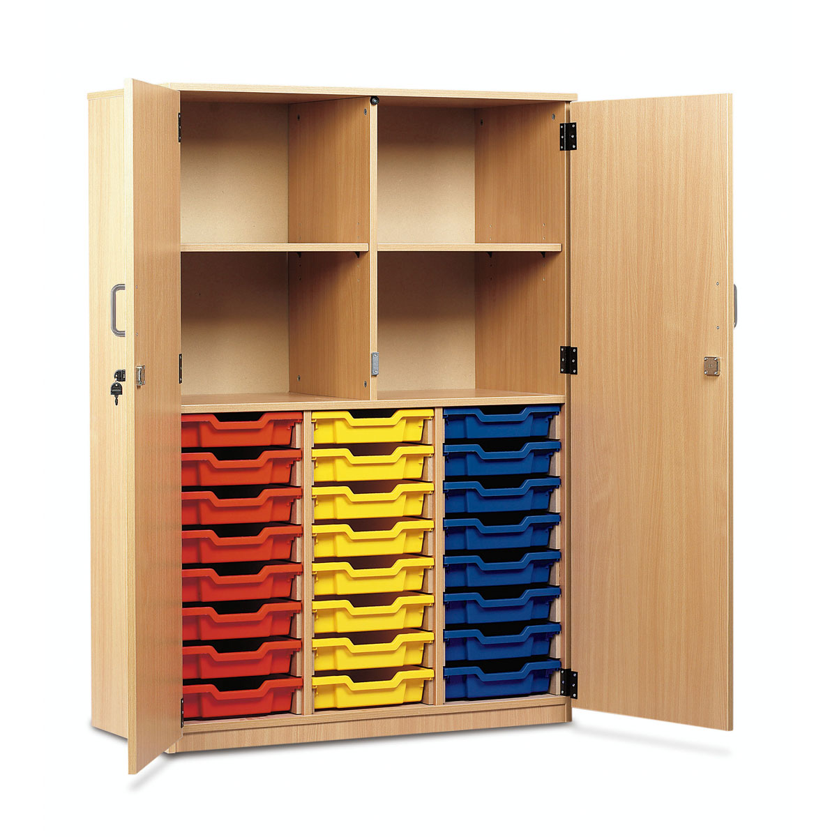 Buy Cupboard Buy 24 Shallow Tray Cupboard Full Locking Doors