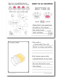 Under the Sea | Abstract Noun Joy | Free Worksheets ...