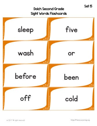 Dolch Sight Words Flashcards List 15 Free Worksheets - dolch sight word flashcards
