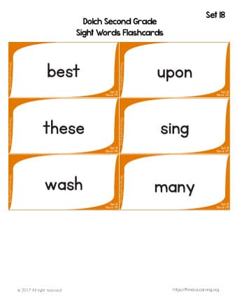 Dolch Sight Words Flashcards List 18 PrimaryLearningorg - dolch sight word flashcards