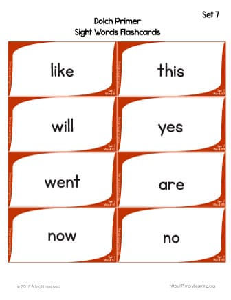 220 Dolch Sight Words Printable Workbook PrimaryLearningorg - dolch sight word flashcards