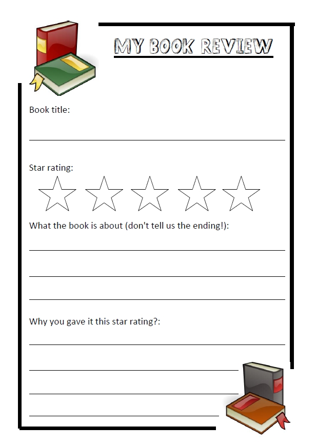 book report template for kids book review template teen stuff - printable book review template