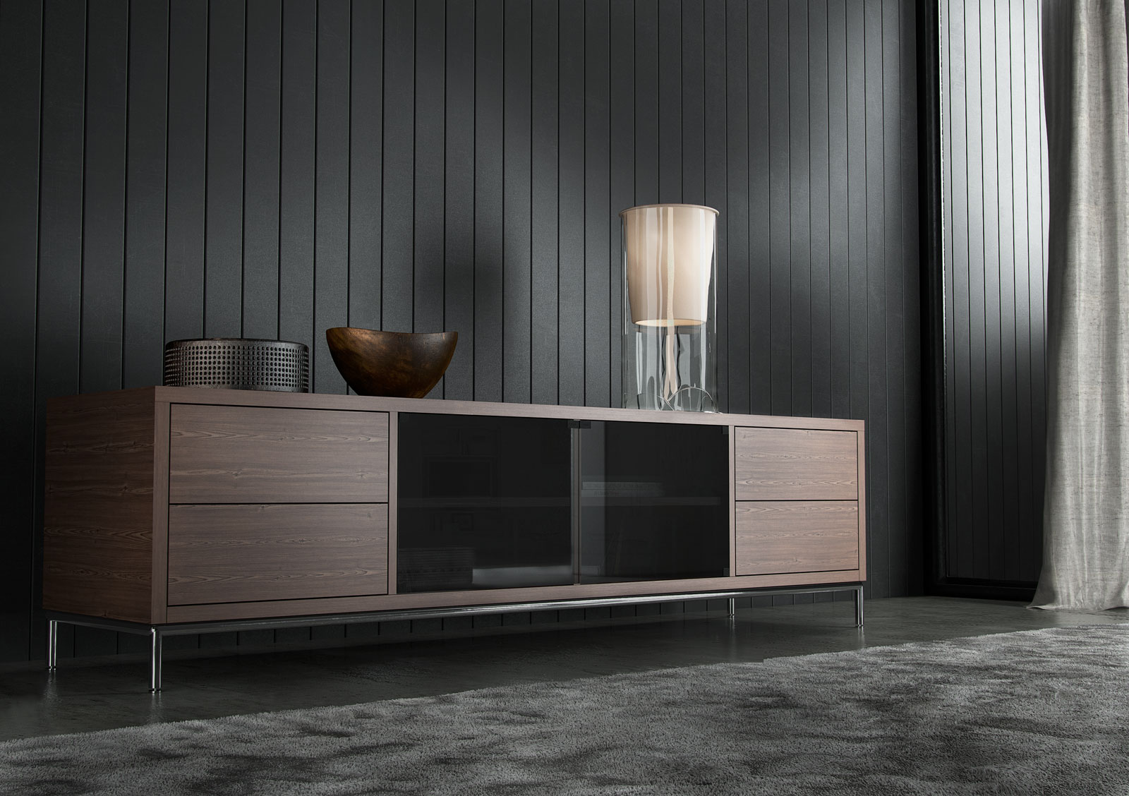 Tv Sideboard Modern Extra Long Contemporary Tv Entertainment Unit With Storage