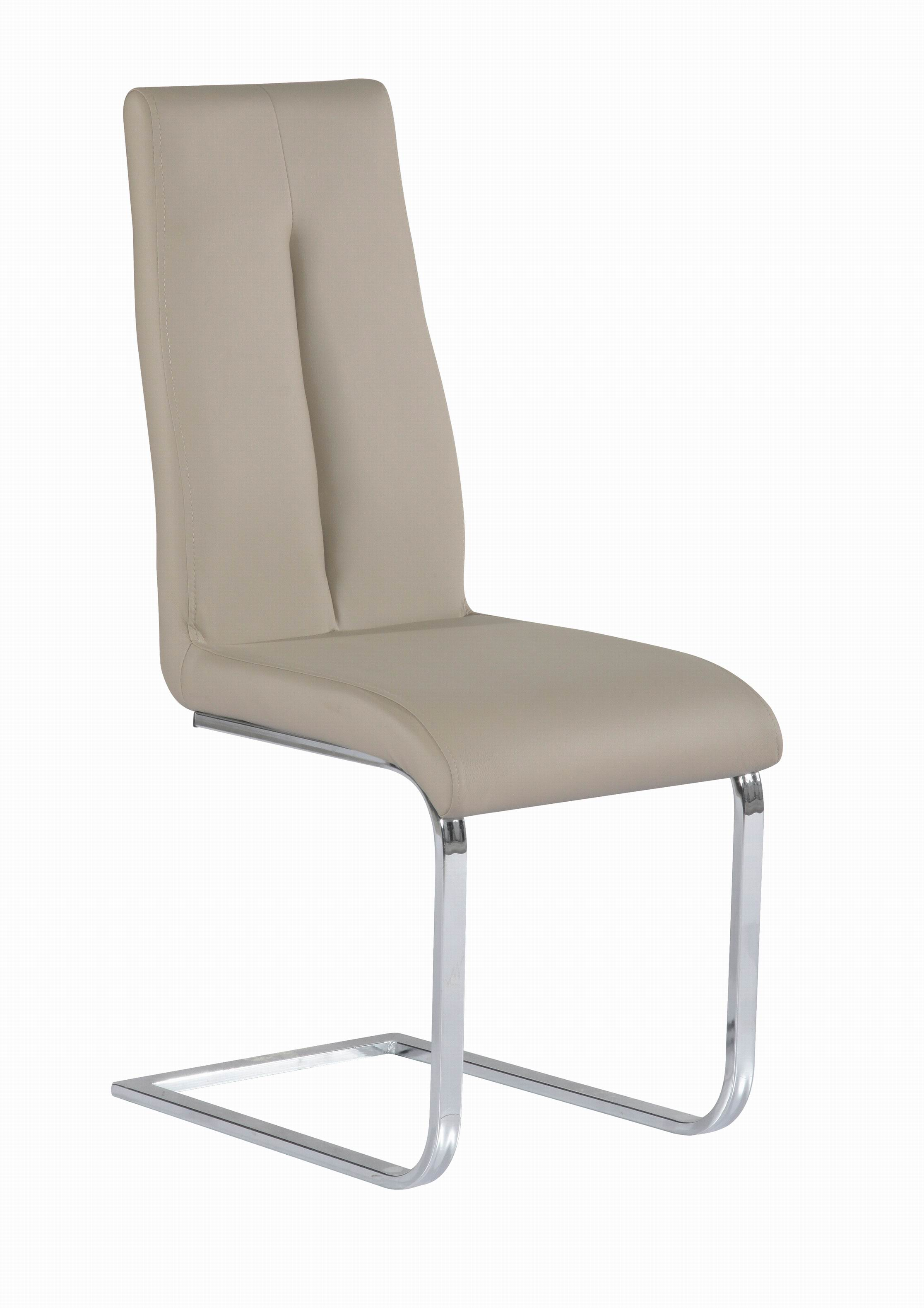 Chairs Comfortable Comfortable Taupe Upholstered Side Chair With Chrome Frame